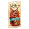 """Лакомства """"Molina"""" 80г д-кошек куриный сэндвич с сырными шариками"""