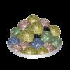 Грунт стеклянный №15-50 шт круглый радужный крапчатый