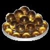 Грунт стеклянный №19-50 шт круглый янтарный