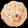 """Игрушка """"Мячик плетеный"""" из роттана с погремушкой д- кошек (ЕС-09)"""