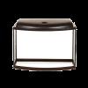 Аквариум фигурный 62л свет обогреватель фильтр крышка Венге