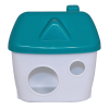 Домик пластиковый в клетку 12*15*7см д-грызунов (С133)