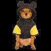 """Дождевик-плащ """" Микки Маус""""  WD1026 S капюшон с ушками чёрный с жёлтой отделкой"""