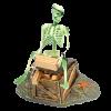 """Аквадекор -распылитель """"Скелет с золотом"""""""