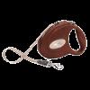 """Рулетка """"Флекси Luxery"""" ремень 5м до 25кг с благород. кожанной отделкой ,коричневая"""