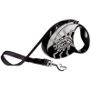 """Рулетка """"Флекси"""" Glam Spider ремень 3м до 12кг с кожан.отдел.и стразами Swarovski рис. паук"""