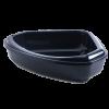 Moderna Туалет-лоток  угловой с рамкой 55*45*13см королевский синий (24661)