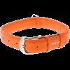 Ошейник COLLAR GLAMOUR кожанный оранжев. ш-12мм/д-21-29см (CL32564)