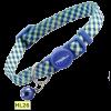 Triol Ошейник д-кошек темно-синий клетку и колокольчиком нейлон 10*210*330мм (HL27)