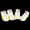 АрниДог Кроссовки Nike бело-желтые на молнии  (NS002-3-L)