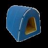 """Лежанка """"Морская"""" Дом-Туннель оксфорд водооттлк. №1 40*34*34см (76421) синий-бежевый"""