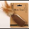 """Mon Tero Игрушка ЭКО """"Мешочек с перьями"""" с кошачьей мятой д-кошек зеленый 8*4см"""