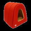 """Лежанка """"Морская"""" Дом-Туннель оксфорд водооттлк. №1 4,*34*34см (76411) красный-бежевый"""
