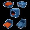 """Лежанка """"Морская"""" Дом-Куб трансформер водооттлк. №2 50*50*48см (76462) синий-красный"""