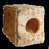 """Лежанка """"Дом-Куб"""" трансформер №2 мебельная ткань+плюш  50*50*48см (76152)"""