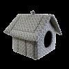 """Лежанка """"Дом-Изба"""" №2 мебельная ткань на молнии 44*40*44см (76062)"""