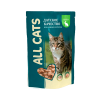 """Влажный корм """"All Cats"""" пауч 85г д-кошек кролик"""