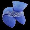Сапожки М синие из пластичной резины на липучке (YXS200 )