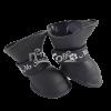 Сапожки  L чёрные из пластичной резины на липучке  (YXS200)