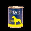 """Консервы """"Брит"""" Premium 850г д-собак с говядиной и пшеном"""
