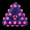 """KONG Игрушка Dotz """"Треугольник"""" д-собак малый 11см"""