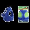 Triol Шлейка - жилетка с поводком мягкая синяя обхват груд. 30см (HL-02XS)
