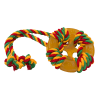 """DogLike Игрушка """"Кольцо Космос с канатом"""" д-собак 104мм*300мм*23мм желтый (D12-1105)"""