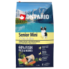 """Сухой корм """"Ontario"""" Senior 6,5кг д-пожилых собак малых пород 7 видов рыб-рис"""