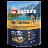 """Сухой корм """"Ontario"""" Adult Medium 750г д-собак 7 видов рыб-рис"""