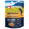 "Сухой корм ""Ontario"" Adult Medium 750г д-собак ягненок-рис"