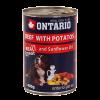 """Консервы """"Ontario"""" 400г д-собак говядина-картофель"""