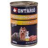 "Консервы ""Ontario"" 400г д-собак курица-морковь"