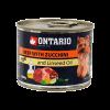 "Консервы ""Ontario"" 200г д-малых пород собак говядина-цукини"