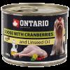 """Консервы """"Ontario"""" 200г д-малых пород собак гусь-клюква"""