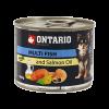 """Консервы """"Ontario"""" 200г д-малых пород собак рыбное ассорти"""