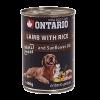 "Консервы ""Ontario"" 400г д-собак ягненок-рис"