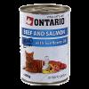 """Консервы """"Ontario"""" 400г д-кошек говядина-лосось"""