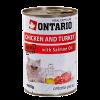 """Консервы """"Ontario"""" 400г д-кошек курица-индейка"""