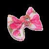 Бантик (пара) белый в розовый цветочек (2-22-06)