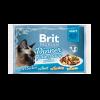 """Консервы """"Брит"""" Premium Набор пауч 4*85г д-кошек  кусочки в соусе"""