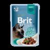 """Консервы """"Брит"""" Premium пауч 85г д-кошек Кусочки феле говядины в соусе"""