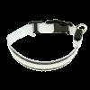 Ошейник Пижон подсветкой М- 40-45см 2 светоотр. полоски 3 режима. белый (1039605)