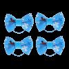 Бантик Пижон 4шт д-собак голубой с бабочками на лат.резинке 3,5*2,5см (1148759)