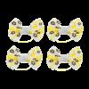 Бантик Пижон 4шт д-собак бежевый на лат.резинке 4,5*2,5см (1148760)