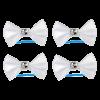 Бантик Пижон 4шт д-собак белые со стразами на лат.резинке 3,5*2,5см (1377291)