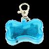 Брелок-адресник Пижон светящ. на ошейник 3 реж.свечения  синий (930508)