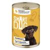 """Консервы """"Smart Dog"""" 850г д-собак/щенков кусочки курочки с потрошками в неж. соусе"""