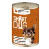 """Консервы """"Smart Dog"""" 400г д-собак/щенков кусочки индейки с перепелкой в неж. соусе"""