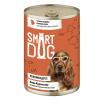 """Консервы """"Smart Dog"""" 400г д-собак/щенков кусочки индейки в неж. соусе"""