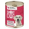 """Консервы """"Smart Dog"""" 400г д-собак/щенков кусочки говядины и ягненка в неж. соусе"""